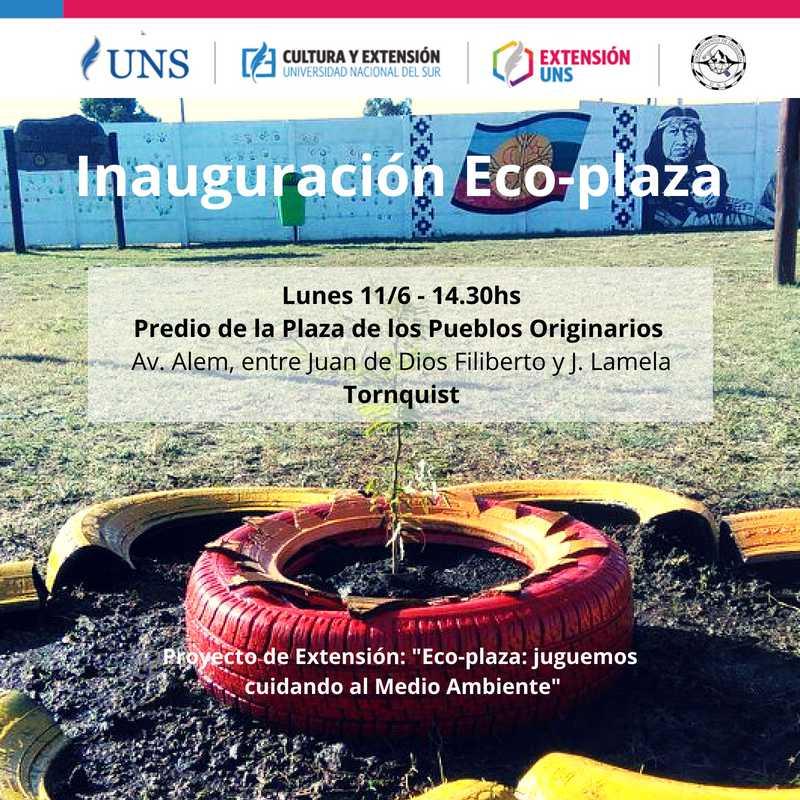 """Imagen asociada a la novedad, Inauguración de la """"Eco-Plaza"""""""