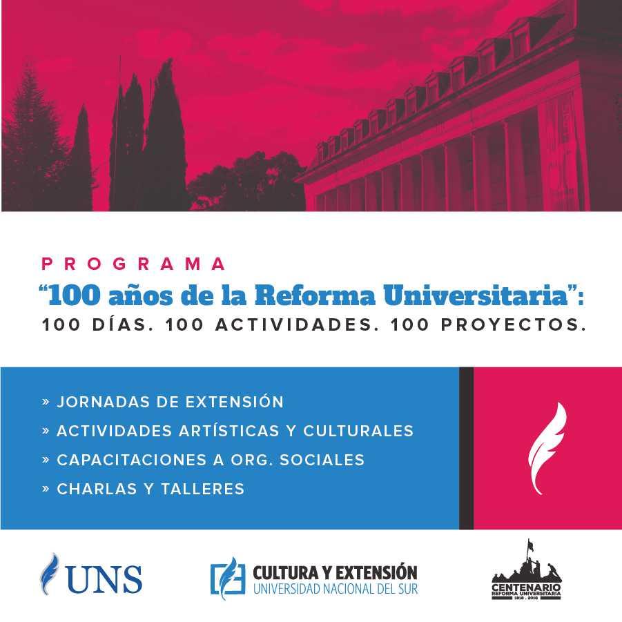 Imagen asociada a la novedad, 100 años de la Reforma Universitaria