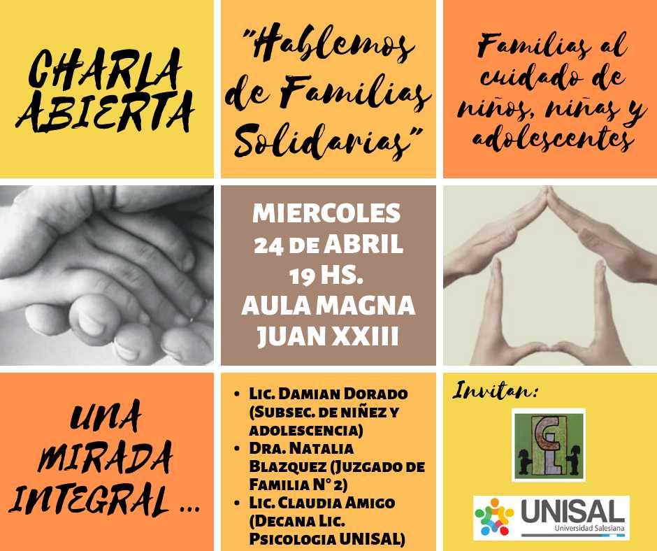 Imagen asociada a la novedad, Hablemos de familias solidarias