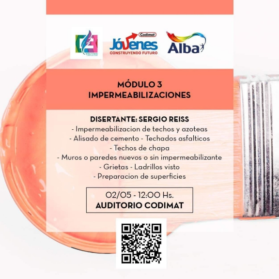 Imagen asociada a la novedad, EmpleoUNS: Charla sobre Impermeabilizaciones - Alba