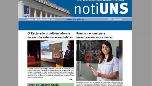Imagen Noticia: Ya puede leerse en papel y en línea la edición de diciembre del NotiUNS