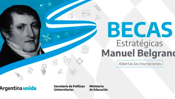 """Imagen Noticia: Abierta la convocatoria al Programa de Becas """"Manuel Belgrano"""""""