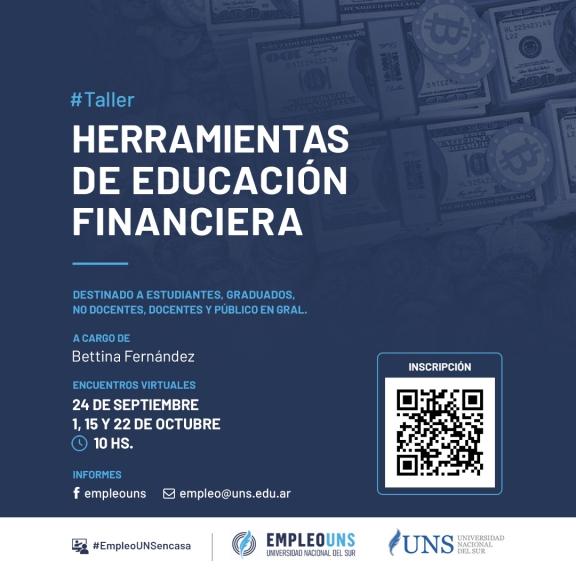 """Imagen asociada a la novedad, EmpleoUNS Taller """"Herramientas de educación financiera"""""""