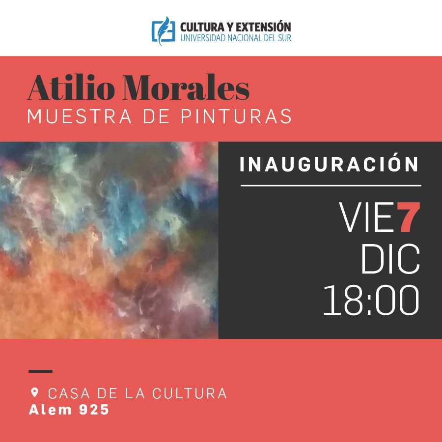 imagen asociada al evento Atilio Morales Pinturas, fecha 07/12/18