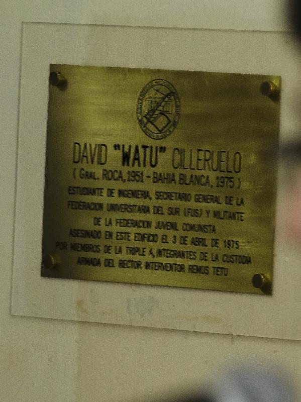 Placa Homenaje a David Watu Cilleruelo