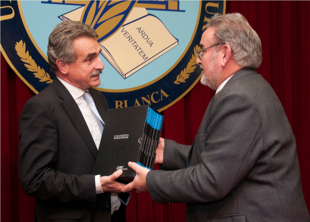 Ministro de Defensa Agustín Rossi y Rector Guillermo Crapiste