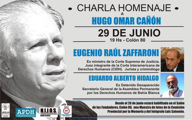 Imagen noticia: Charla y muestra fotográfica en homenaje a Hugo Cañón