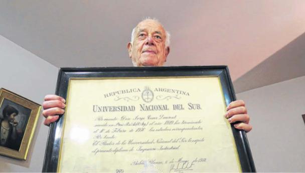 Imagen Noticia: Falleció Jorge Laurent, primer egresado de la UNS